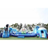China Adult Outdoor Inflatable Water Parks , Pool Obstacle Course Play Equipment wholesale