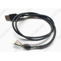 China UL2725 USB Cable Black PVC Jacket USB A male Cable With MLX 51004 Connector wholesale