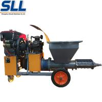 China Gypsum mortar rendering plastering machine for building construction wholesale