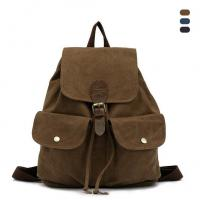 Preppy Style Fashion Vintage Cotton Canvas Women Backpack Casual Drawstring Travel Bag Of Besbom