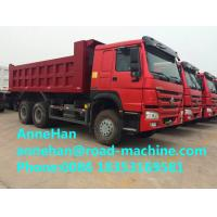 China Mining Industry Heavy Duty Dump Truck 336HP 6X4 RHD 30 Ton White / Red / Green wholesale