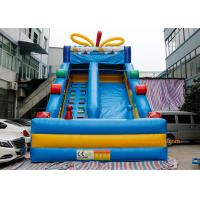 China Blue Candy Commercial Inflatable Slide For Garden Or Backyard  bouncy house wholesale