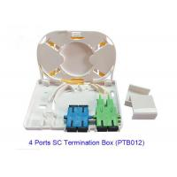 China 4 Port SC Fiber Optic Terminal Box PTB012 For FTTX Network RoHS Approved on sale