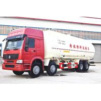 China 20 - 40Tons Loading Powder Material Truck / 8x4 12 Wheels Cement Powder Truck wholesale