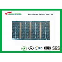 China Multilayer Quick Turn PCB Prototypes 4 layer FR4 1.2mm Blue Solder Mask Panel Size 160*80mm wholesale