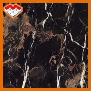 China Portoro Black Marble Slab OEM Service For Bathroom Floor Decoration on sale