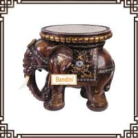 China Wholesale Resin elephant stool figurine home decoration novelty house crafts A0545M wholesale