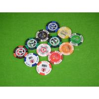 Buy cheap 14G Double Suited Clay Poker Chips Anti Counterfeit Chip With Metal Inside from wholesalers