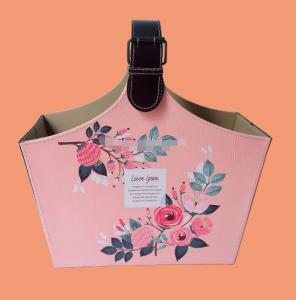 China Waterproof Lady Shopping Basket New Flower Design Decoration Basket Indoor New Design Valentine Gift Basket on sale