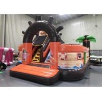 China 5.5m Inflatable Pirate Ship Jumping Castle Combo For Adult Kids wholesale