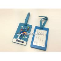 China Blank pvc luggage tags custom logo image words numbers can be added wholesale