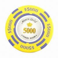 China 14g Monte Carlo Clay Poker Chip, Available in 10 Colors on sale