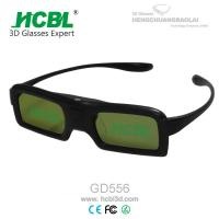 China DLP Link Universal Active Shutter 3D Glasses With Rechargable Battery / Logo Print wholesale