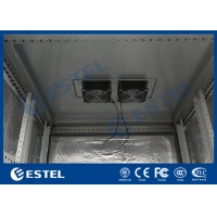 "China IP55 Fans Cooling Galvanized Steel Outdoor Telecom Cabinet Includes 19"" Rack wholesale"