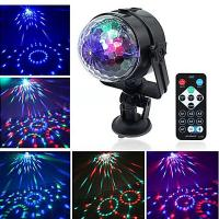 China USB Interface Remote Controller LED Crystal Car Small Magic Ball Light Colorful Rotating Stage Effect Lights on sale