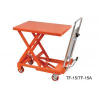 China Portable Hydraulic Scissor Lift Table Trolley , Heavy Duty Lift Table TF15 TF15A wholesale