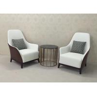 China High Back Wooden Lounge Chair Leather Upholstered Lounge Chair / Accent Armchair wholesale