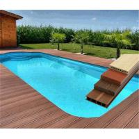 China 60% PVC Powder and 30% Wood Powder WPC Composite Decking Swimming Pool Flooring wholesale