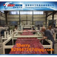 China PVC plastic roofing tile extrusion making line plastic roof machine extruder line plastic recycling machine wholesale
