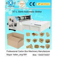 China Chain Feeding Semi Automatic Die Cutting Machine , Carton Sheet With Pressure Plate wholesale