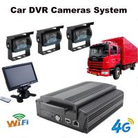 China 4Ch Hard Drive Car Dvr Recorder System With 3G / 4G / GPS / WIFI / G-Sensor wholesale