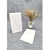 China White Oil Proof Paper Bags For Food Packaging / Recyclable Paper Takeaway Bags on sale