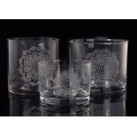 China Clear Replacement Glass Candle Holders With Laser Engraved Etching Logo on sale
