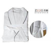 China Luxury Hotel Robes Waffle Weave With Stripe Excellent Water Absorption wholesale