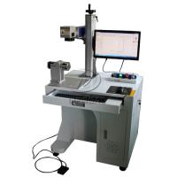 China Stainless Steel Cylinder Fiber Laser Marking Machine with Rotary Axis AC110V wholesale