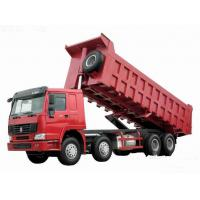 China 371hp Howo 8x4 tipper truck / dumper truck HW76 cab with one berth 7m length wholesale