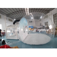 China Christmas Decor Clear Inflatable Bubble Tent With Blowing Snow wholesale