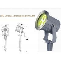 Buy cheap IP67 RGB Outdoor LED Garden Lights 3W / Exterior Landscape Garden Spike Light from wholesalers