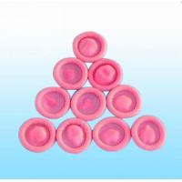 China Comfortable Anti Static Finger Cots , Pink ESD Finger Cots For Distributing Letters wholesale