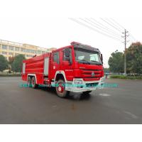 China 10 Wheelers Security Fire Brigade Truck Fire Engine Vehicles 3 Axle LHD/RHD Steering wholesale