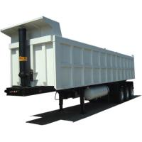China Diesel Rear End Dump Truck Trailer 3 Axles With Leaf Spring Suspension wholesale