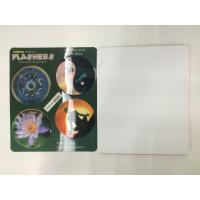 China Flip Effct 3D 0.6 MM PET Custom 3D Lenticular Stickers With CMYK Printing wholesale