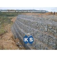 China Galvanized Wire Gabion Retaining Walls Plastic or Stainless Steel Wire PE Coating Gabion Mattress wholesale