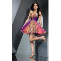 China Elegant strapless  mini short beading tulle cocktail dress wholesale