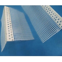 China White color Plastic Corner profile with good quality fiberglass net used for wall corner wholesale