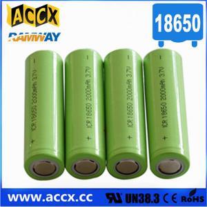 China lithium battery 18650 2000mAh wholesale