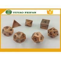 China Wholesale custom polyhedral set RPG black finish metal custom dice wholesale