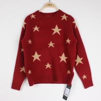 China Knit Jacquard Sweaters Star pattern Cindy Red Plus Size Clothes on sale