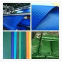 China PVC Glossy/Matte Colorful Knife Coated Tarpaulin/Tent fabric used for truck cover wholesale