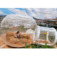 China Hotel Inflatable Crystal Bubble House Tent With Airtight Tunnel wholesale