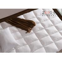 China Luxury Hotel Mattress Toppers / King Size Bed Mattress Topper Customized Size 233T wholesale