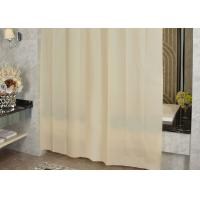 China Ivory Shading Beautiful Shower Curtains Color Customized Mildewproof / Greaseproof wholesale