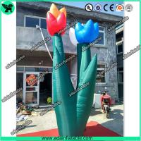 China Spring Indoor Outdoor Event Party Decoration Inflatable Tulip Flower Stage Decoration wholesale