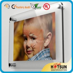 Quality Glass wall mounted acrylic photo frames, acrylic wall mount picture frames for sale