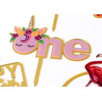 China Happy Birthday Party Wedding Acrylic Cake Cupcake Toppers For Decorations wholesale