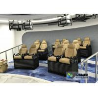 China Genuine leather Mobile 5D Movie Theater In Truck Or Trailer Back Poking Effects wholesale